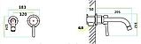 Смеситель настенный в черном цвете 3-064, фото 6