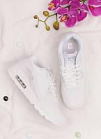 Белые кроссовки на шнуровке 25966, фото 1