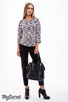 Классические брюки для беременных ELEGANCE, из стрейчевого коттона, черные, фото 1
