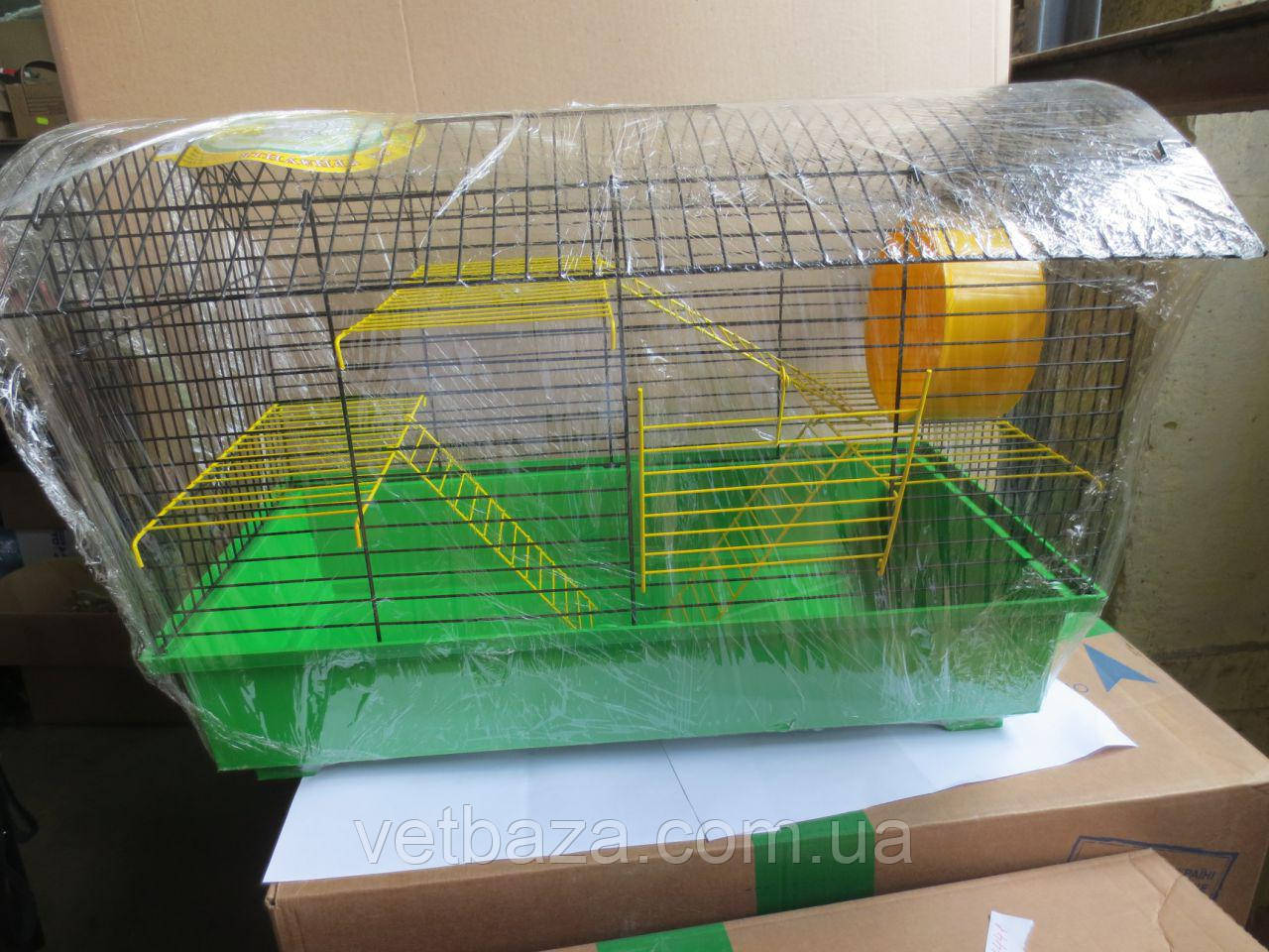 Клетка Биг-Вагон для грызунов крашенная 61х40х40 Лори (100% предоплата)