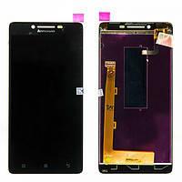 Lenovo A6000/K3 (K30-T)/K3 (K30-W)тачскрин + дисплей (сенсорная панель, cенсорное стекло) черный оригинал (китай)