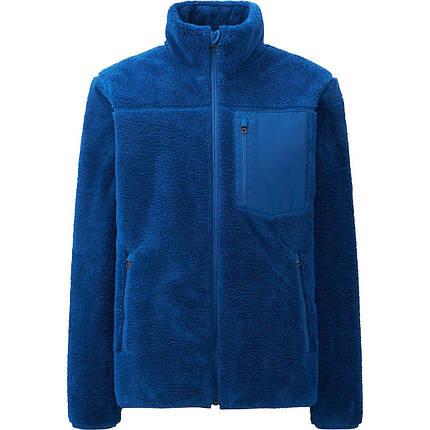 Кофта Uniqlo Men Wind Proof Fleece BLUE, фото 2
