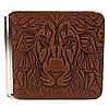 Зажим для денег со львом Z4-02 (светло-коричневый)