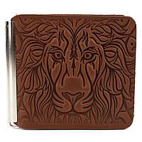Зажим для денег со львом Z4-02 (светло-коричневый), фото 1