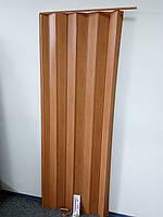 Двери гармошка-ширма 501вишня раздвижные межкомнатные пластиковые глухие 810х2030х0,6 мм, фото 1