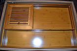 Чабань чайная доска бамбук 57*37*45 см, фото 3