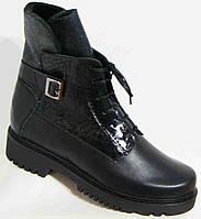 Ботинки женские зима кожаные, женская обувь больших размеров от производителя модель МИ3528-10