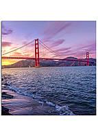 Фотокартина на холсте Мост Золотые Ворота, 50*50 см