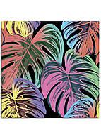 Фотокартина на холсте Тропические листья, 50*50 см