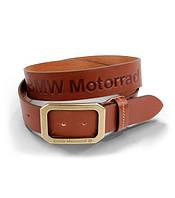 Кожаный ремень BMW Motorrad Logo Leather Belt, Brown 76898352972