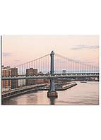 Фотокартина на холсте Закат на мосту, 50*70 см