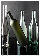 Фотокартина на холсте Натюрморт из бутылок, 50*70 см