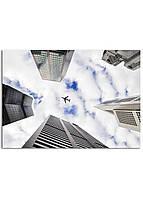 Фотокартина на холсте Самолет в небе, 50*70 см