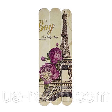 Набор пилочек для ногтей (3 шт.)  Париж Aise Line, фото 2