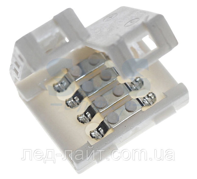 Коннектор RGB LED ленты пластик 2 зажима 4pin