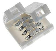 Коннектор RGB (лента 5050, 3528) пластик 2 зажима 4pin