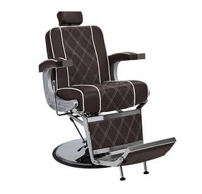 Кресло парикмахерское для barbershop Валенсия Люкс Коричневое (Frizel TM)