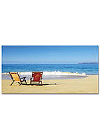 Фотокартина на холсте Морской пляж, 60*120 см