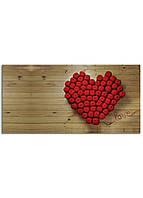 Фотокартина на холсте Сердце, 60*120 см