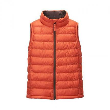 Жилетка Uniqlo kids light warm padded vest Orange, фото 2