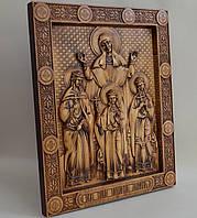 Икона Вера, Надежда, Любовь и мать их София (300Х360х25 мм), фото 1