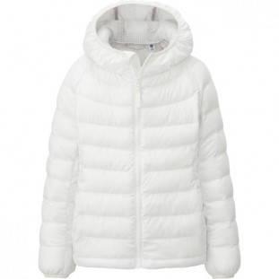 Куртка Uniqlo girls light warm padded coat White, фото 2