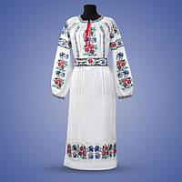 """Женское платье с вышивкой """"Нимфа"""" белое"""