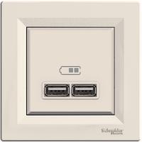 Розетка USB 2,1A Крем Asfora Schneider,  EPH2700223