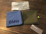 Полотенце в комплекте с сумкой BMW Active Towel, Functional, Blue / Olive 80232446011, фото 4