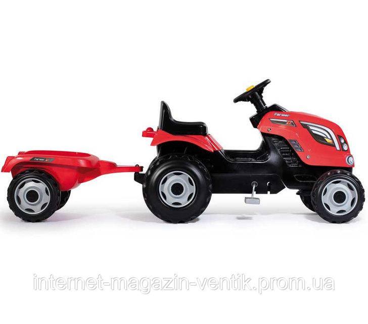 Детский трактор с прицепом Фермер XL