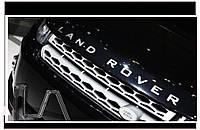 Автологотип шильдик эмблема надпись LAND ROVER матовая серая