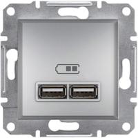 Розетка USB 2,1A Алюминий Asfora Schneider,  EPH2700261
