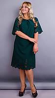 Нарядное платье с перфорацией Ажур  большие размеры, фото 1