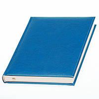 Ежедневник 'Небраска' от Lediberg голубой производства Италии, недатированный, под тиснение логотипа, фото 1