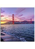 Фотокартина на холсте Мост Золотые Ворота, 60*60 см