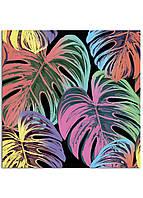Фотокартина на холсте Тропические листья, 60*60 см