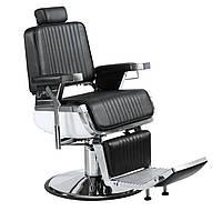Кресло парикмахерское для barbershop Элегант Люкс Черное (Frizel TM)