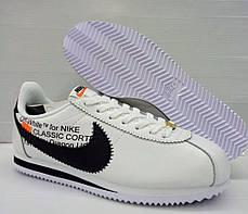 Кроссовки Nike Cortez x Off White (Белые), фото 2