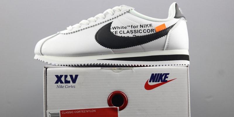 Кроссовки Nike Cortez x Off White (Белые)