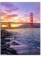 Фотокартина на холсте Мост Золотые Ворота, 60*80 см