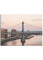 Фотокартина на холсте Закат на мосту, 60*80 см
