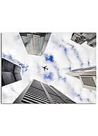 Фотокартина на холсте Самолет в небе, 60*80 см