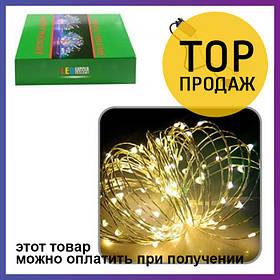 Гирлянда светодиодная LED наружная с контроллером 10м Yellow R82856-1 | Декоративное освещение для дома