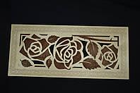 """Панно """"Розы""""  ( Панно настенное, Картина панно из дерева )"""