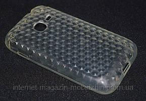 Чехол силиконовый Samsung S6802 прозрачный Diamond
