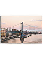 Фотокартина на холсте Закат на мосту, 60*90 см