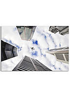 Фотокартина на холсте Самолет в небе, 60*90 см