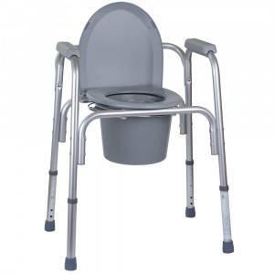 Стул-туалет стандартный алюминиевый (3в1: туалет, сиденье, сиденье в душ) (высота: 46-61) Кресло-туалет