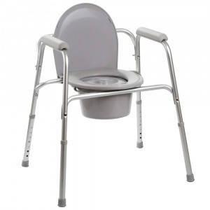 Стул-туалет стандартный алюминиевый (3в1: туалет, сиденье, сиденье в душ) (высота: 40-55) Кресло-туалет