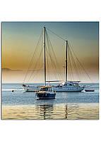 Фотокартина на холсте Яхта, 70*70 см